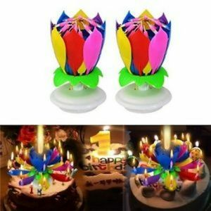 2 Lotus birthday candle for birthday cake
